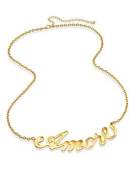 Amore Slogan Necklace