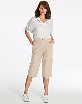 Basic Crop Cotton Trousers
