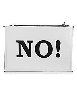 Yes No Slogan Clutch Bag