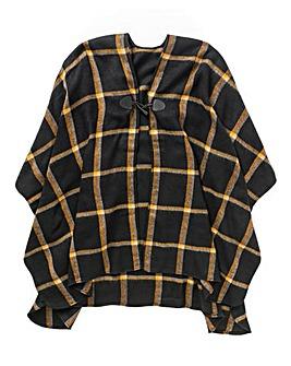 Simply Be Black Check Blanket Wrap