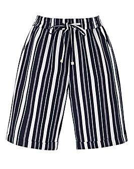 Petite Essential Stripe Linen Mix Short