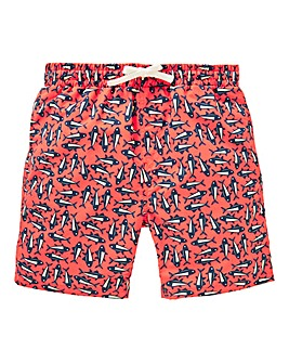 Boys Fish Print Swim Shorts