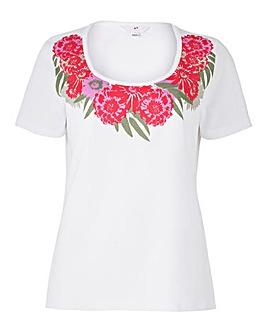 Floral Placement Print T Shirt