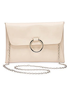 Sophie Nude Ring Detail Clutch Bag