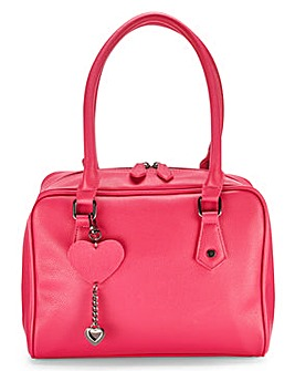 Lola Cranberry Bowler Bag with Keyring