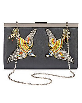 Lovebird Embroidered Clutch Bag