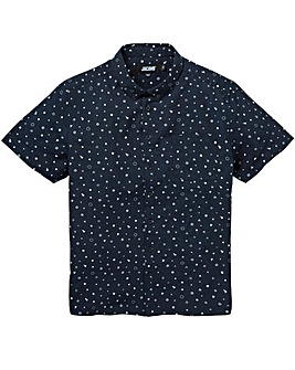Jacamo Geo S/S Printed Shirt Regular