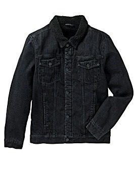Jacamo Borg Lined Denim Jacket Reg