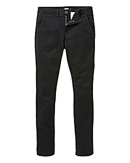 Jacamo Black Stretch Skinny Chino 33in