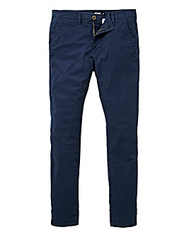 Jacamo Navy Stretch Skinny Chino 29in