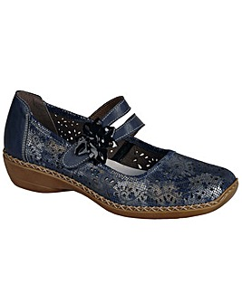 Rieker Date Flower Trim Mary Jane Shoes