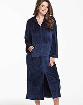 Pretty Secrets Velour Zip Gown 48""