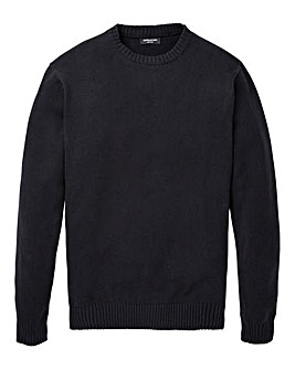 Capsule Black Crew Neck Cotton Jumper R
