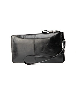 Hautton Leather Wrist Bag