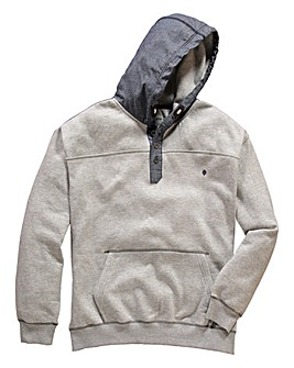 Mish Mash Cal Button Neck Hooded Sweat