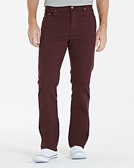 UNION BLUES Wine Gaberdine Jeans 27in