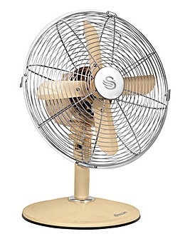 Swan Vintage Cream 12 Inch Desk Fan