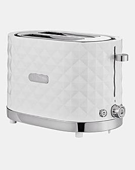 JDW Diamond 2 Slice White Toaster