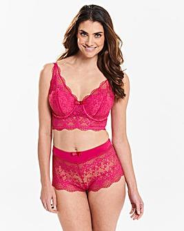 Lottie Lace Hot Pink Midi Bralette