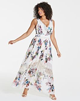 Little Mistress Floral Print Maxi Dress