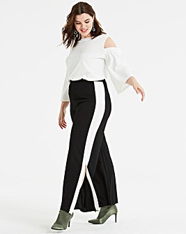 Pink Clove Stripe Split Legged Trousers