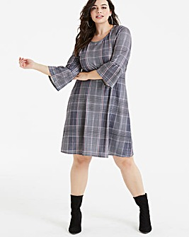 Pink Clove Check T-Shirt Dress