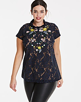 Lovedrobe Embroidered Lace Top