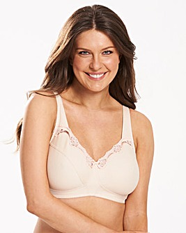 Sarah Non Wired Cotton Rich Natural Bra