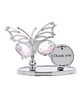 Crystocraft Thank You Butterfly Plaque