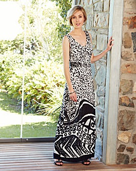 Nightingales Boarder Print Maxi Dress