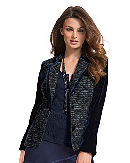 Top to Toe Velvet Trim Tailored Jacket