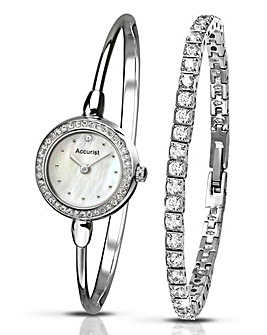 Accurist Ladies Watch & Bracelet Set