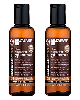 Macadamia Ultra Hair Treatment Oil Duo