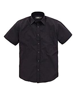 W&B London Black S/S Formal Shirt R