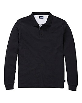 Southbay Unisex L/S Black Pique Polo