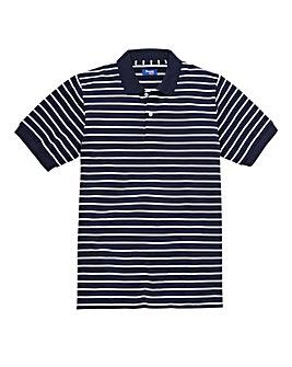 Premier Man Navy Feeder Stripe Polo