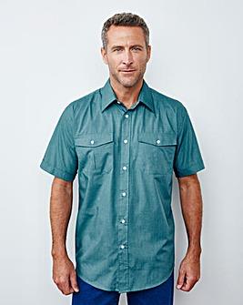 Premier Man Teal Pilot Shirt R