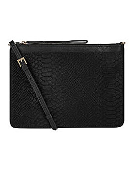 Accessorize Amber Leather Croc Xbody Bag