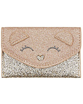 Accessorize Gracie Glitter Bear Purse