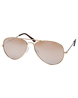 Accessorize Gold Aviator Sunglasses