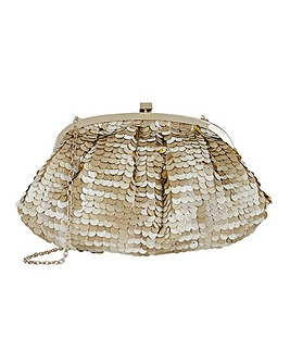 Accessorize Tina Sequin Clutch Bag