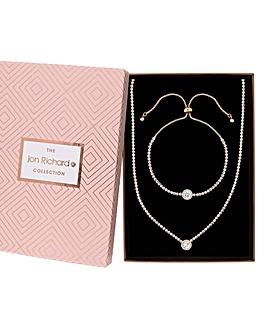 Jon Richard Crystal Halo Jewellery Set