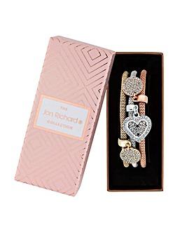 Jon Richard Pave Charm Bracelet Set