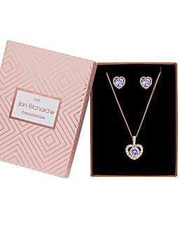 Jon Richard Heart Halo Jewellery Set