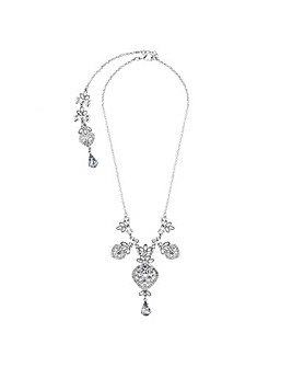 Lipsy Crystal Front And Back Necklace
