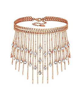 Lipsy Crystal Fringe Necklace
