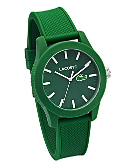 Lacoste Gents Green Silicone Strap Watch