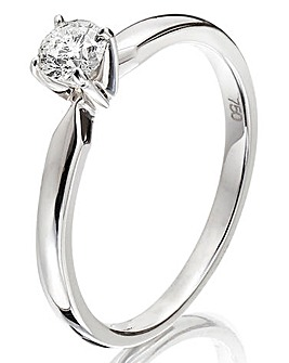 18 Carat 1/4ct Solitaire Ring
