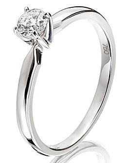 18 Carat 1/4ct Solitaire Ring