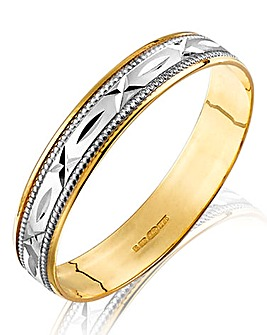 9ct Yellow Gold Sealed with a Kiss Band